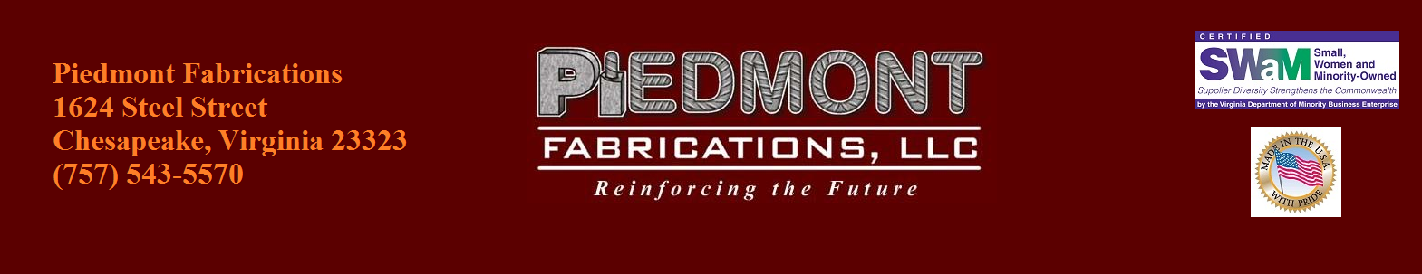 About Piedmont Fabrications suppling rebar, reinforcing bar